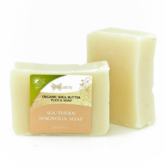 Handcrafted Southern Magnolia Soap - Organic Ingredients