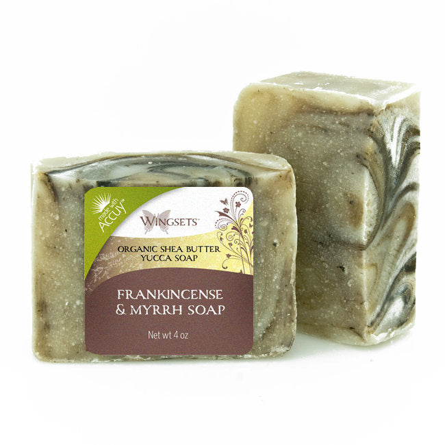 Handcrafted Frankincense & Myrrh Soap - Organic Ingredients