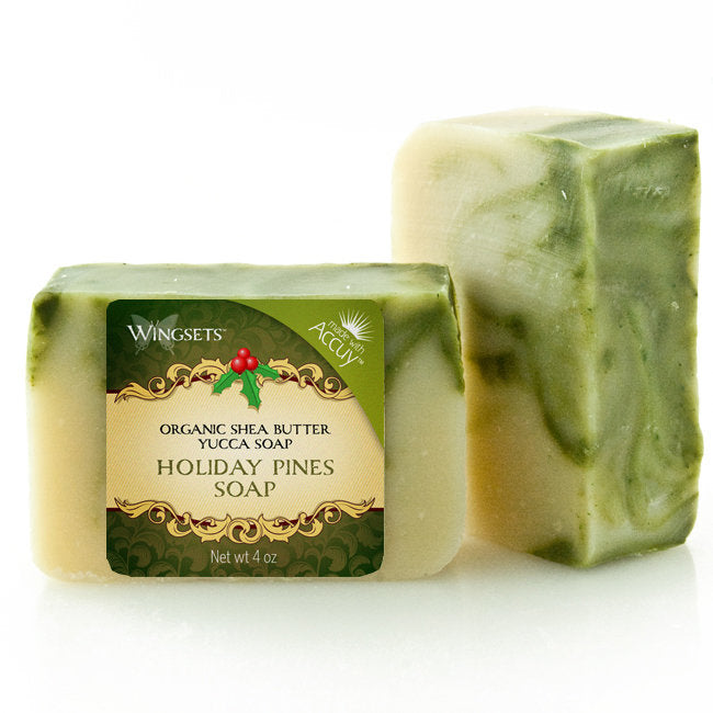 Holiday Christmas Pines Soap - certified organic ingredients