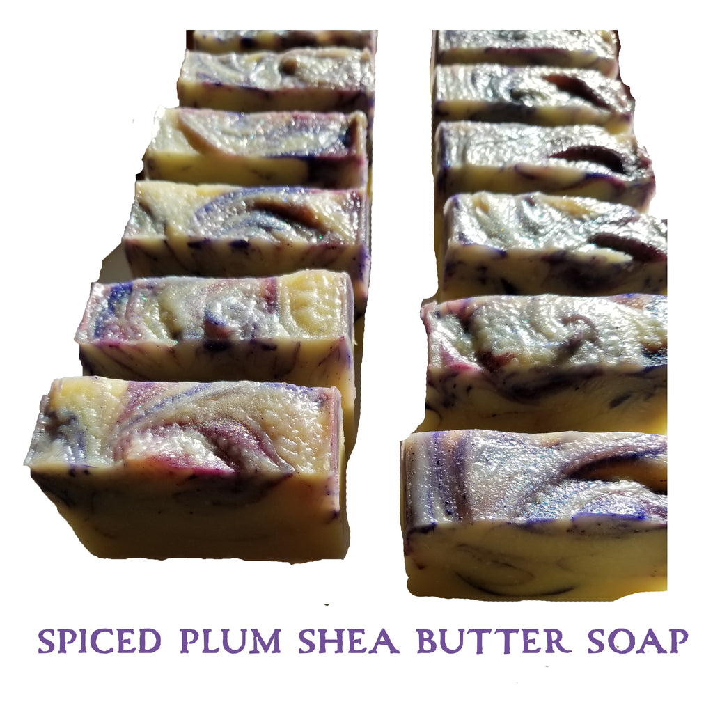 certified organic shea butter in a sugar spice holiday cold processed soap