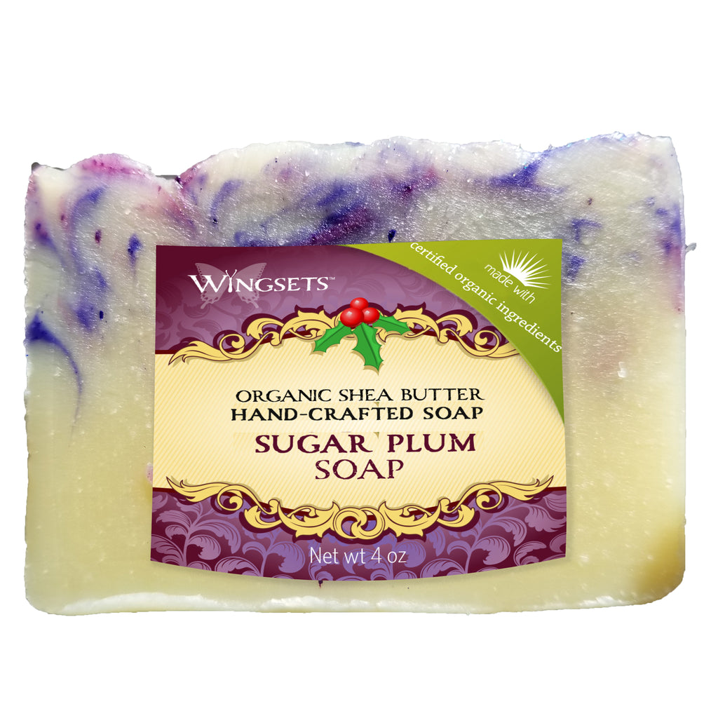 organic spiced sugar plum holiday soap with shea butter by Wingsets