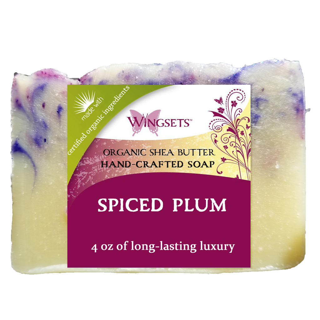 organic spiced plum bar soap with shea butter by Wingsets