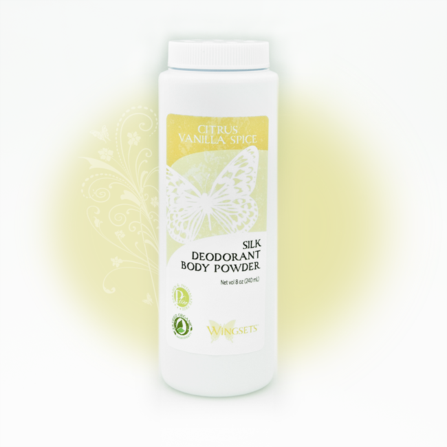 Women's Silk Deodorant Body Powder - Citrus Vanilla Spice
