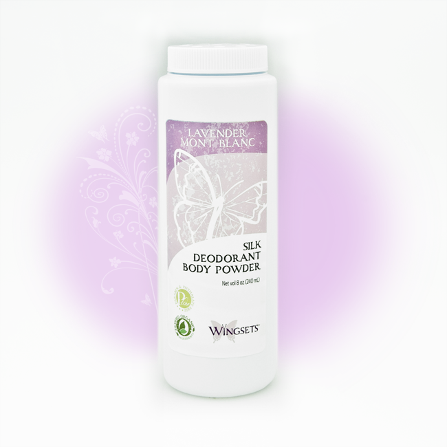 Women's Silk Deodorant Body Powder - Bulgarian Lavender