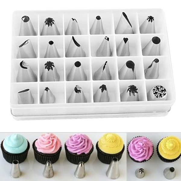 24 Pieces Piping and Nozzles for Cupcake & Cake Decorating