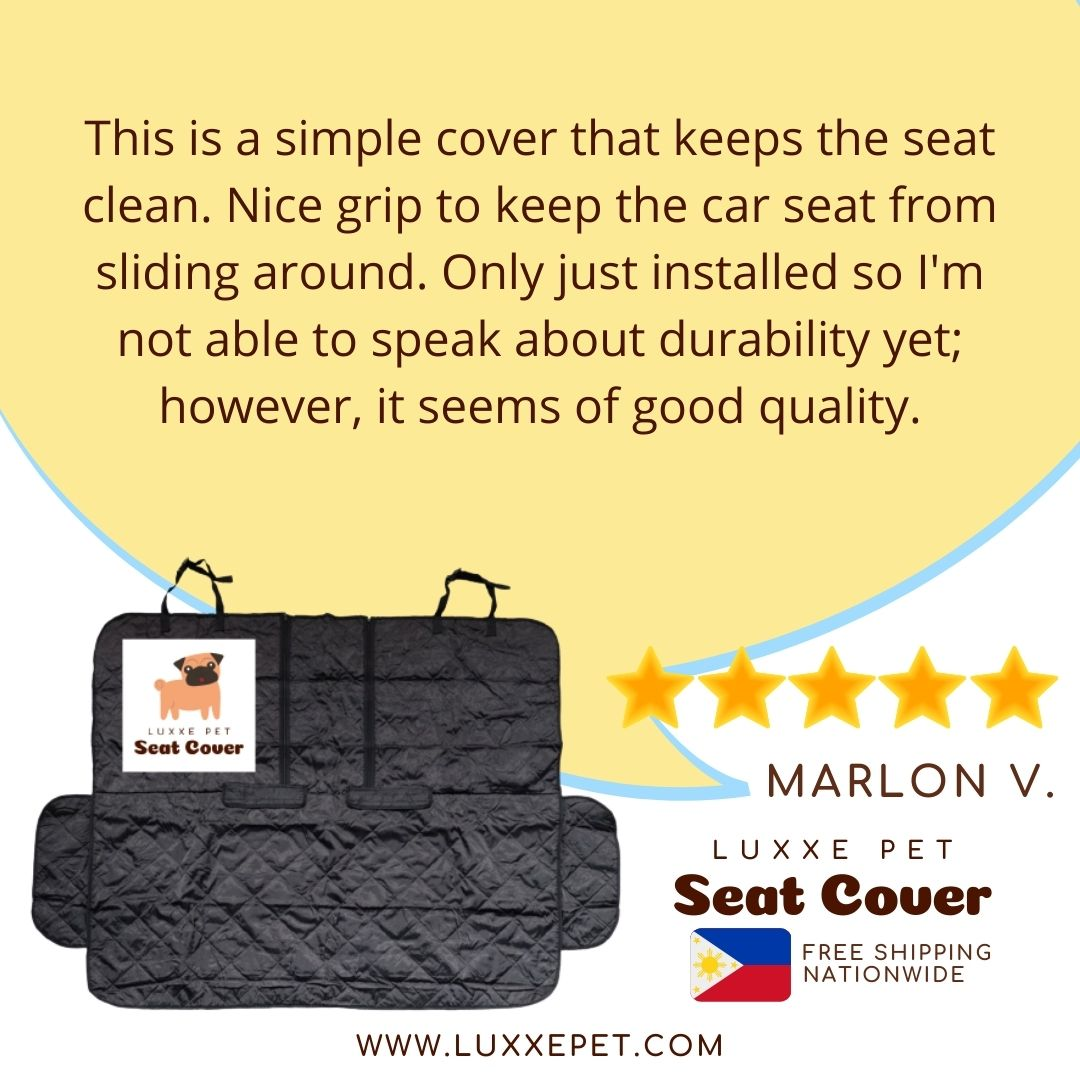 Luxxe Pet Car Seat Cover Universal Car Seat Protector from Hair, Dirt, and Scratches for Cars Trucks and SUVs
