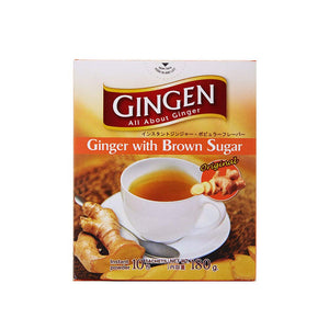 GINGEN Instant Ginger Tea with brown sugar 20 ct