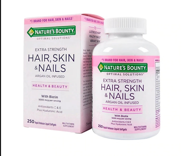 Nature's Bounty Hair Skin Nails 250 Softgels