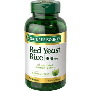 Natures Bounty red yeast rice 600mg 300ct