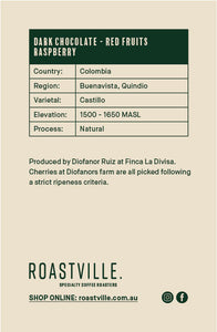 Colombia Castillo Diofanor Ruiz Natural - Espresso - 250g/1kg
