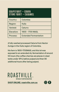Colombia Caturra Hector Zuniga Extended Fermentation - Espresso - 250g/1kg