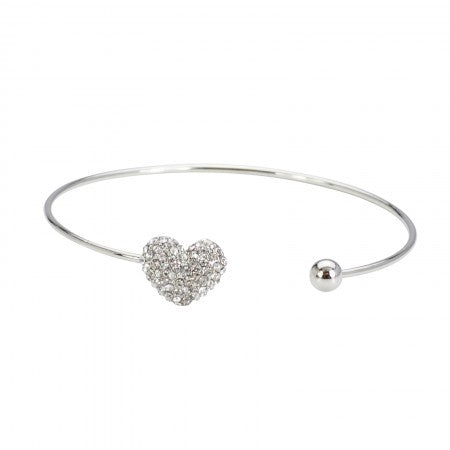 Diamante Heart Bangle from Clean Heels