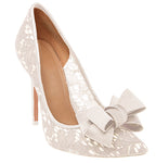 Ivory White Triple Bow from Clean Heels