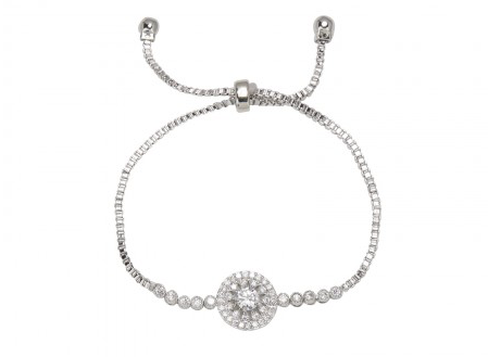 Round Diamante Cluster Bracelet from Clean Heels