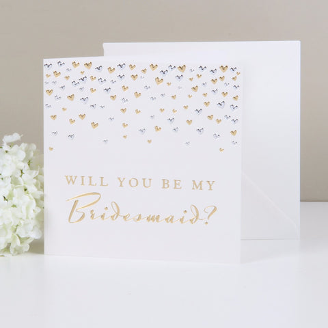 """Will You Be My Bridesmaid?"" Card from Clean Heels"