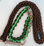 Bully Worldwide BEEF AND BROCCOLI COLLAR & SHORT LEASH SET