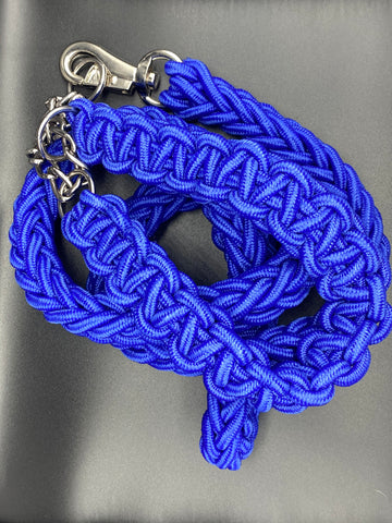 Bully Worldwide Blue Print  Collar & Leash Set