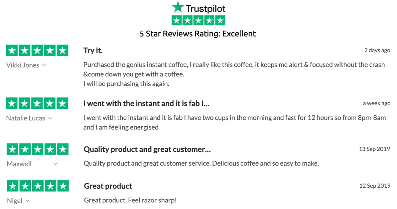 Trustpilot Reviews on Ground Genius Coffee
