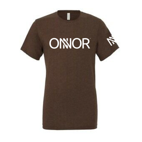 Brown T-Shirt with White ONNOR Print