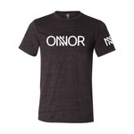 Charcoal Black T-Shirt with White ONNOR Printed Logo