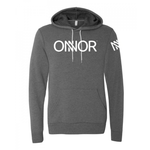 Grey Hoodie with White ONNOR Print