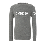 Grey Sweatshirt with ONNOR Print