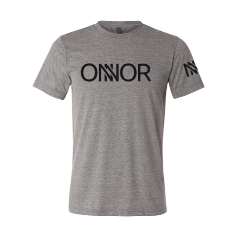 Athletic Grey T-Shirt with Black ONNOR Print