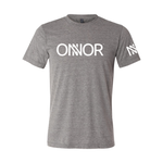 Grey T-Shirt with White ONNOR Print