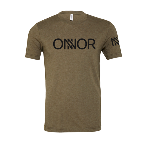Olive T-Shirt with Black ONNOR Print