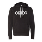 Black Hoodie with White ONNOR Printed Logo