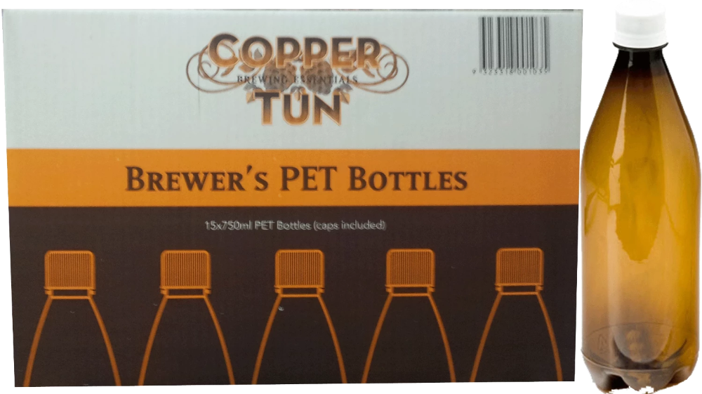 740ml Amber PET Beer Bottles (Box 15)