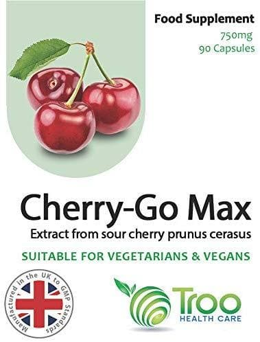 Cherry Go Max Montmorency Supplement - (750mg) 90 Capsules | High Strength Sour Cherry Prunus Cerasus Extract | UK Manufactured to GMP Standards