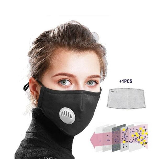 PM2.5 Mask with replacement filter.