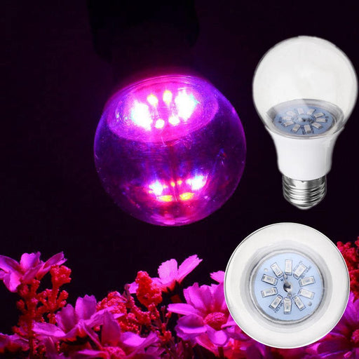5W E27 5730 Full Spectrum 10 LED Grow Light Bulb Reb:Blue 4:1 for Tent Indoor Greenhouse AC100-265V