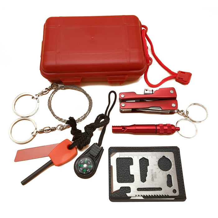 SOS Emergency Equipment Tool Kit First Aid Box Outdoor Supplies Survival Gear
