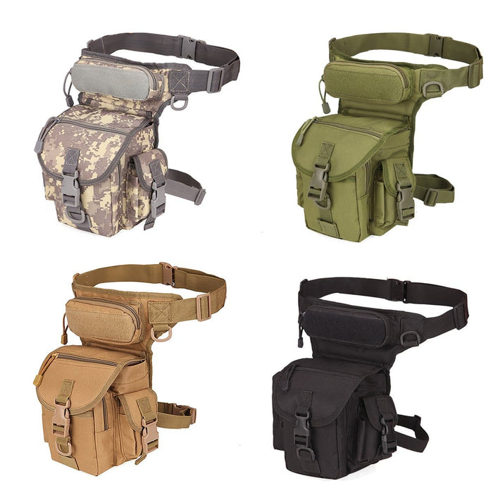 Men's Nylon Hip Drop Belt, Leg Bag Waterproof Military Tactical Bag