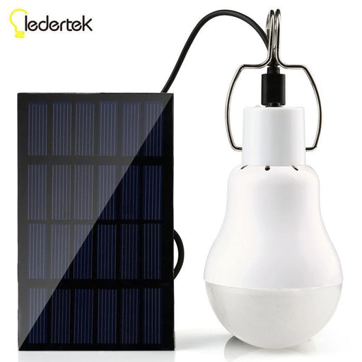 Outdoor Light 15W 130LM Solar Lamp Portable Bulb Solar Energy Led Lighting  Panel Camp Tent Fishing Light