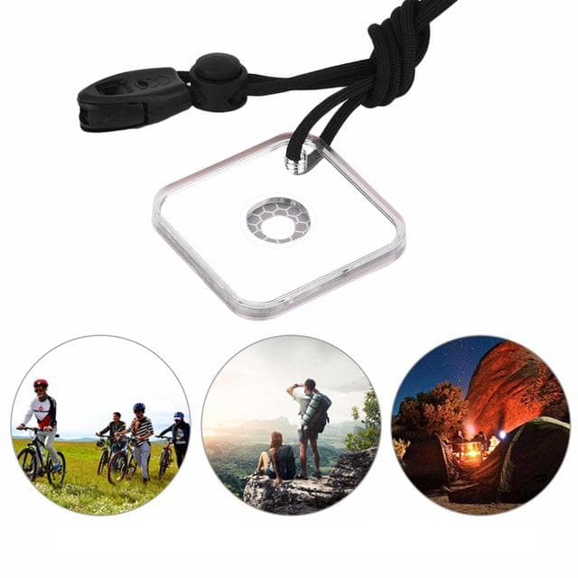 57mm Acrylic Survival Reflective Signal Mirror Emergency Star Flash Mirror with Whistle