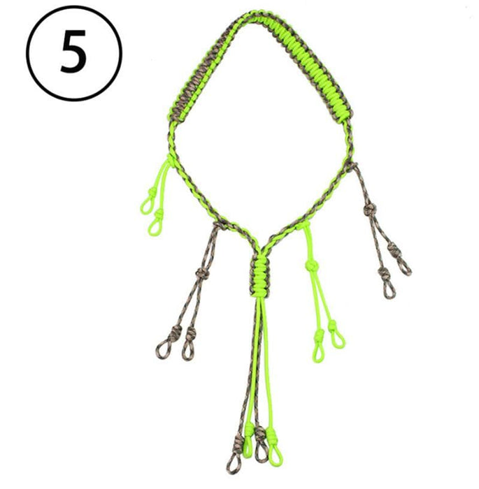 Outdoor Survival Whistle Call Lanyard Hand Braided Emergency Rescue Hiking Hunting Loop Rope Neck Strap