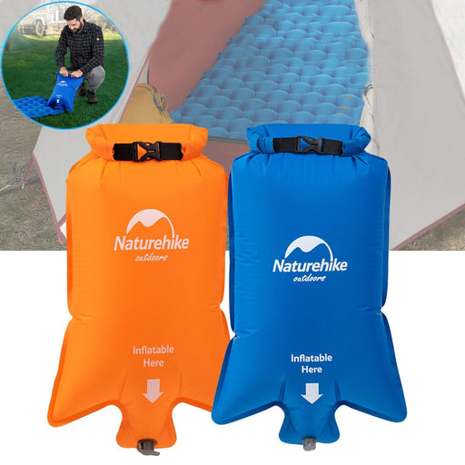 Naturehike Portable Nylon Inflatable Bag Waterproof Dry Sack Pouch For Air Mattresses Sleeping Mat Pad