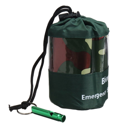 Ultralight Portable Emergency Sleeping Bag With Survival Whistle Outdoor