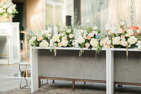 console table floweres