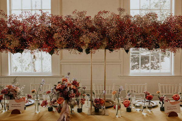 Heights Fire Station Head Table Babys Breath Flowers