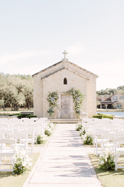 Houston Oaks French Chapel Ceremony Flowers