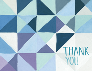 Geometric Thank You Card Set
