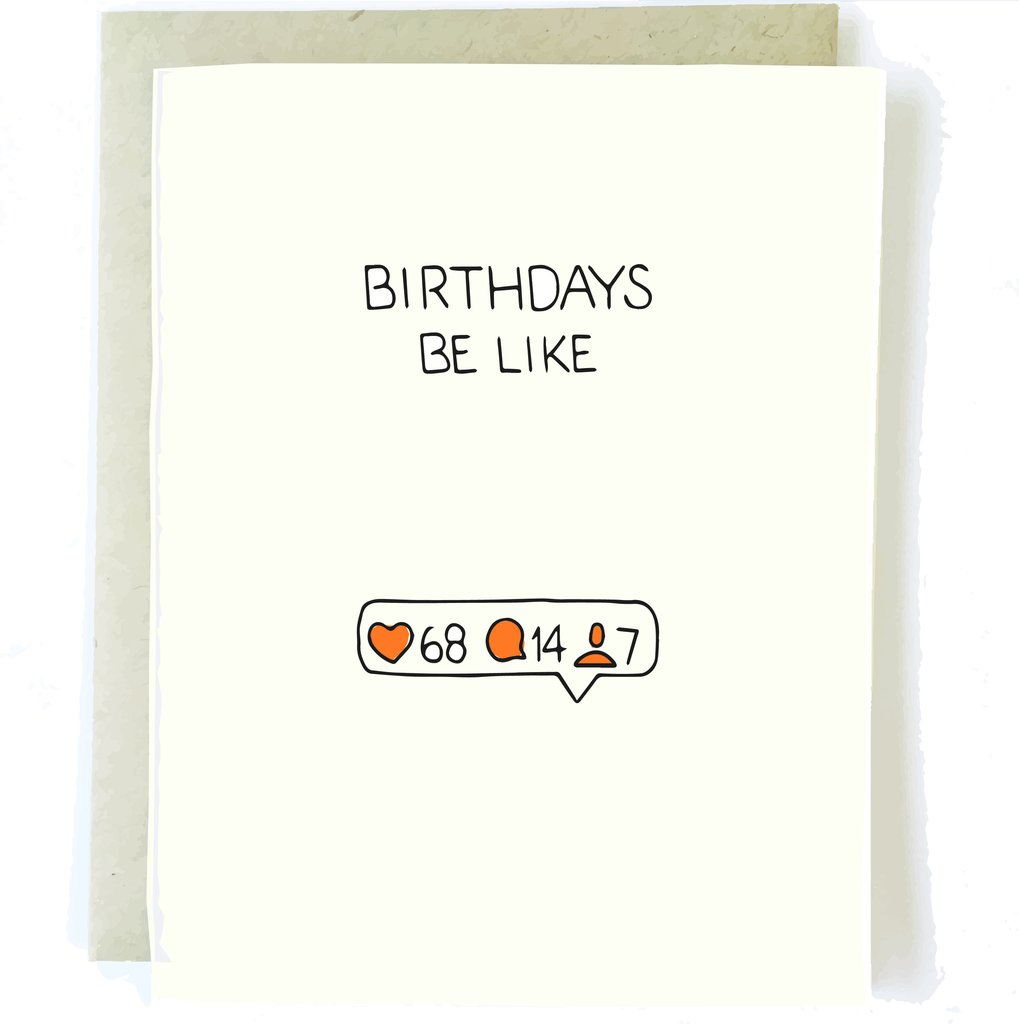 Birthdays Be Like Card