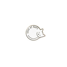 Load image into Gallery viewer, Good at Naps Cat Enamel Pin