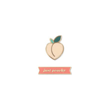 Load image into Gallery viewer, Peach Set Enamel Pin