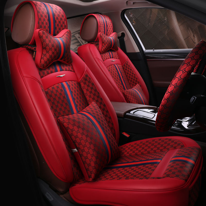 Red GG Seat Covers Universal