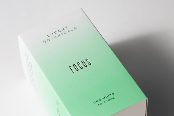 Focus CBD Mints, outer box